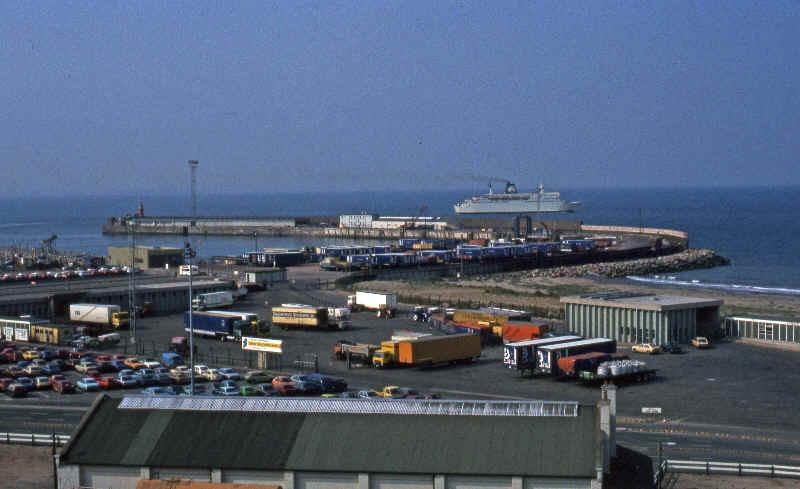 Ireland 1984 - Rosslare ferry port arrivals ...
